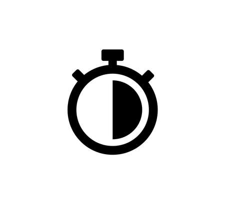 Stopwatch Timer Icon Logo Vector Illustration Design Editable Resizable