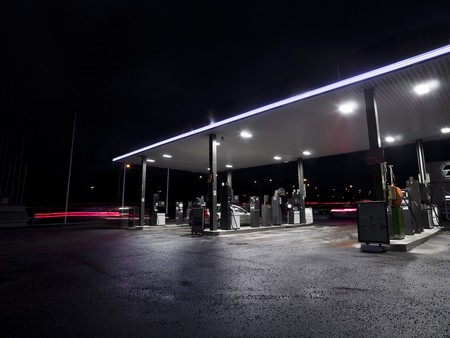 Petrolstation at night