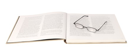 spreaded: Glasses in a spreaded book