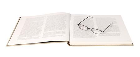 spreaded: Glasses in a spreaded book