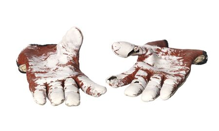 commision: Pair of Protective gloves Stock Photo