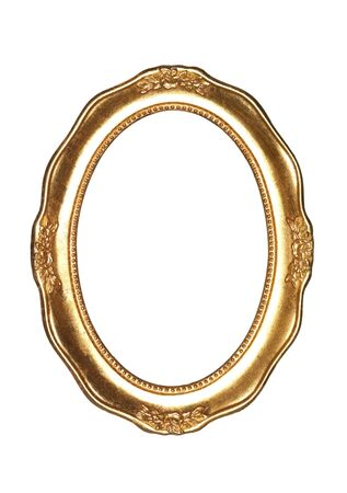 ovalo: Oval goldframe