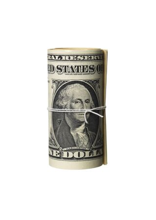 dollarbill: Convoluted dollar-bills Stock Photo