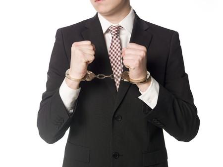 jailed: Man in handcuffs