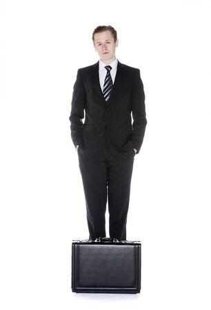 adjuntar: Un hombre con adjuntar