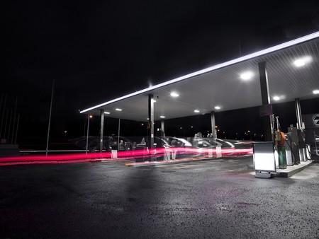 Petrolstation at night photo