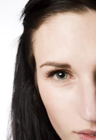 short focal depth: Close-up of an womans eye