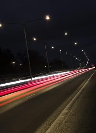 neonlight: Traffic in movement
