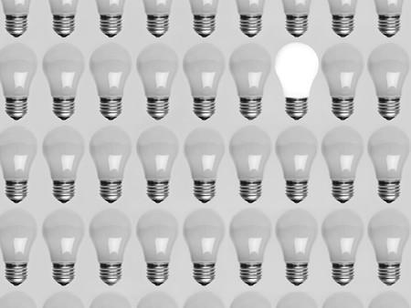 Collage of light bulbs Stock Photo - 4395907