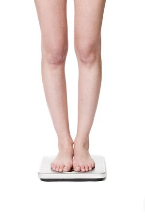 underweight: Standing on a weightscale