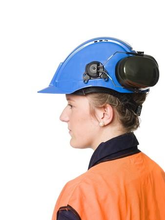 muff: Female Building worker