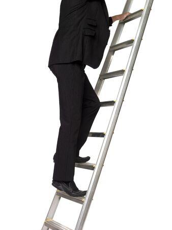 Hombre subiendo una escalera Foto de archivo - 4396023