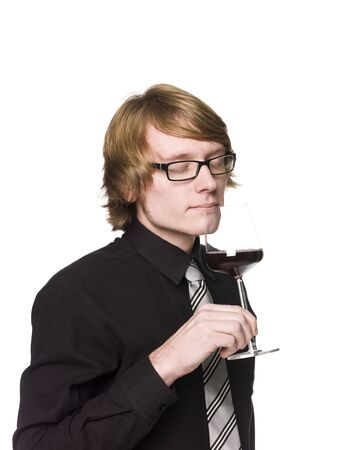 Man smelling wine Stock Photo - 4396118