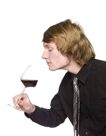 Man smelling wine Stock Photo - 4396135