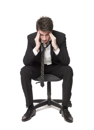 worried businessman: Depressed man Stock Photo