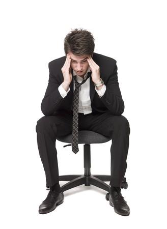 hombre preocupado: Deprimido hombre
