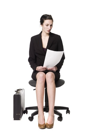 buisness woman: Buisness woman sitting on a chair