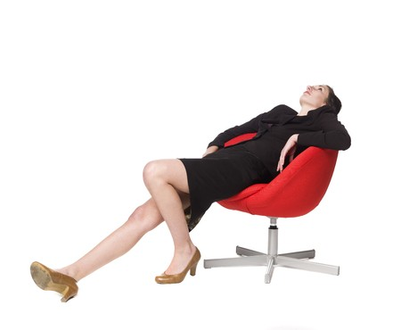 Lazy woman in a chair Stock Photo - 4396533