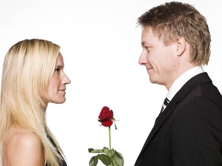 courting: Courting couple Stock Photo