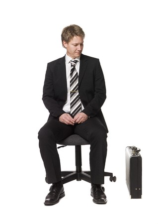 buisness: Buisnessman siting on a office chair