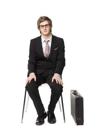 buisness: Man sitting on a chair