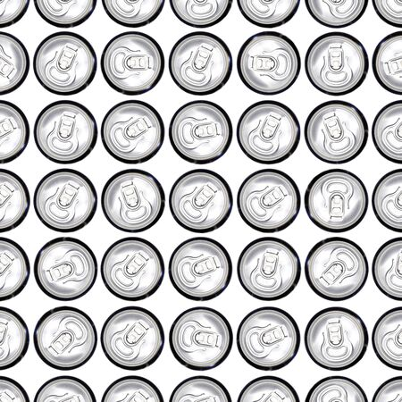 Cans in a pattern photo