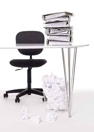 slatternly: Office desk Stock Photo
