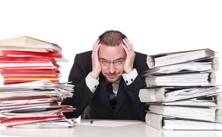 Hard working man in a office Stock Photo - 4435909