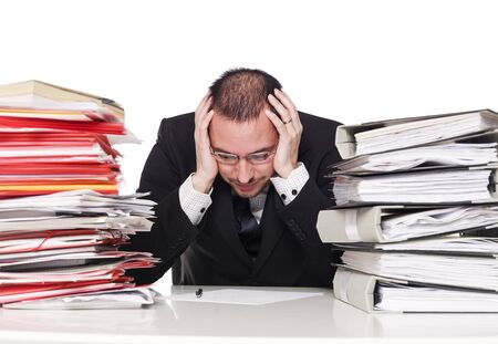 Hard working man in a office Stock Photo - 4435902