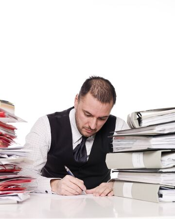 Hard working man in a office Stock Photo - 4435881