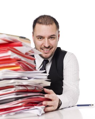Man behind a office desk Stock Photo - 4435901