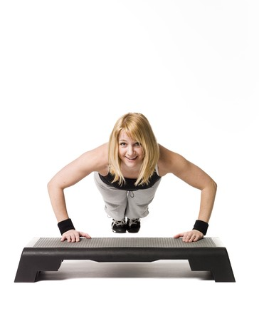 Woman working out Stock Photo - 4468544