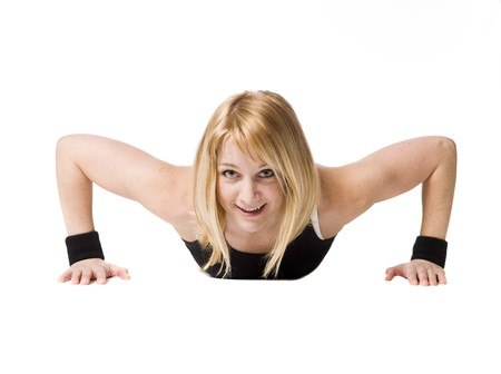 Woman doing push ups Stock Photo - 4468467