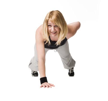 Woman doing push ups Stock Photo - 4468557