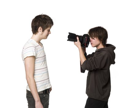 Photographer and a model photo