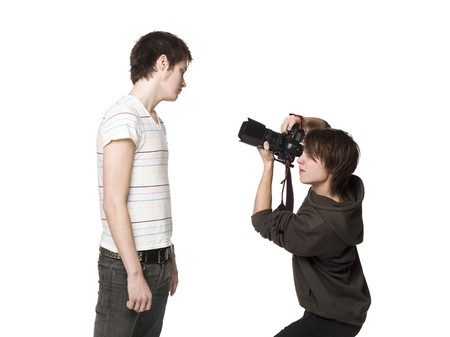 photography session: Photographer and a model