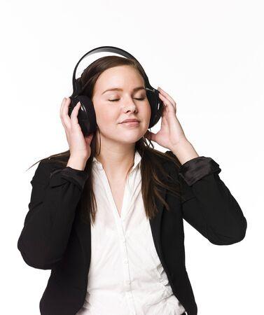 Girl listen to music Stock Photo - 4526286