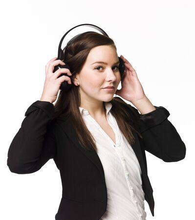 Girl listen to music Stock Photo - 4526275