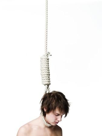 Suicidio por ahorcamiento Foto de archivo - 4552573