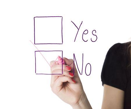 decission: Filling in the no-box