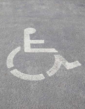 Wheelchair as a sign on the ground photo