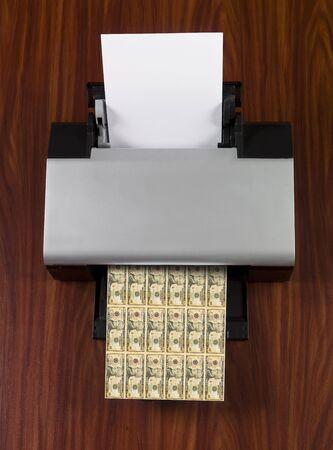 Printer making money photo