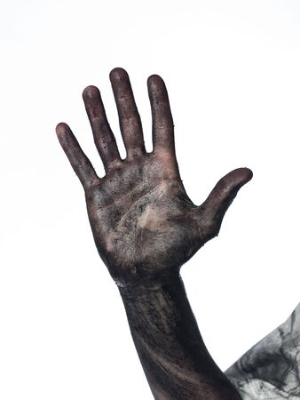 Dirty palm of the hand Stock Photo - 4852555
