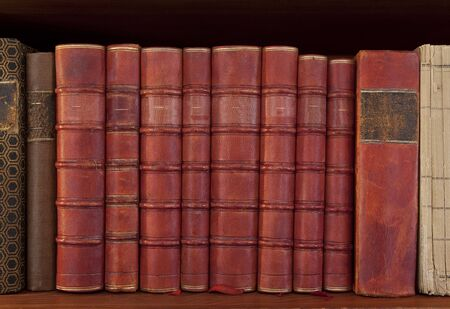 legislation: Antique books in a row