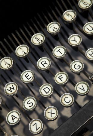 c r t: Vintage typewriter Stock Photo
