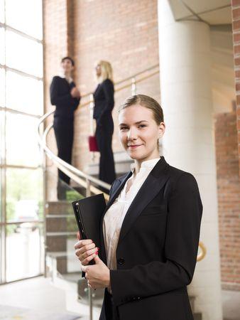 Smiling businesswoman photo