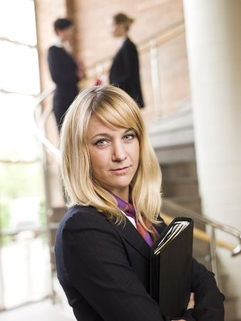Businesswoman facing the camera photo