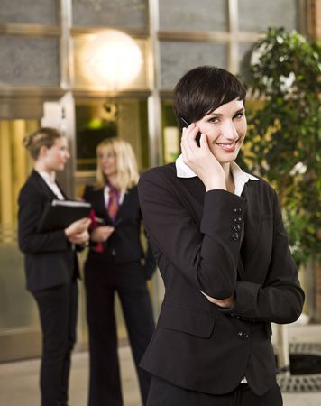 unrecognizable: Businesswoman on the phone