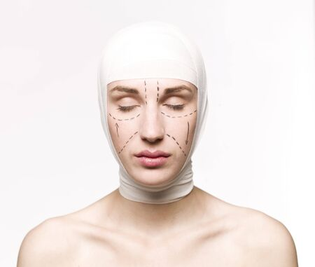 Woman prepared for a plastic surgery Stock Photo - 5001222