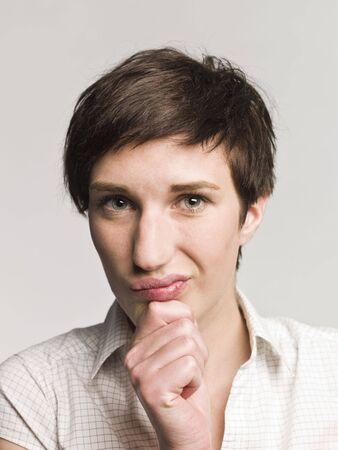 Portrait of a skeptical photo